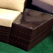Outdoor Sofa 6 pc Sectional Wicker Brown Las Vegas Patio Furniture And Garden image 6