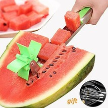 Watermelon Slicer Stainless Steel Fruit Cutter Tongs Vegetable and Fruit... - $7.78