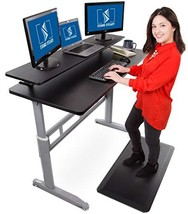 Stand Steady Tranzendesk 55 Inch Standing Desk with 55 Inch Clamp On Shelf - Eas