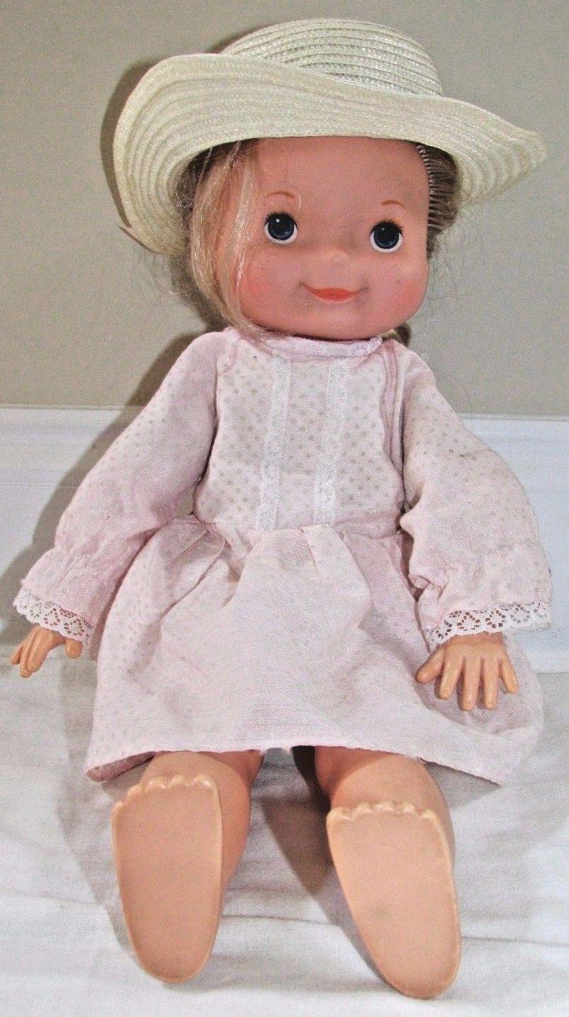 "My Friend Mandy blonde 16"" vintage doll pink dress hat 1970 Fisher Price"