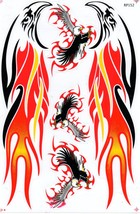 D416 Eagle Wing Bird Sticker Decal Racing Tuning Size 27x18 cm / 10x7 inch - $3.49