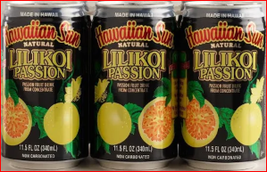 12 Cans, Hawaiian Sun Lilikoi Passion, Canned Juice, Non Carbonated 11.5 oz - $24.99