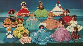 "Vtg 1952 8"" 11"" Americas State Dolls Costume Clothes Georgia Rio Crochet Pattern image 2"