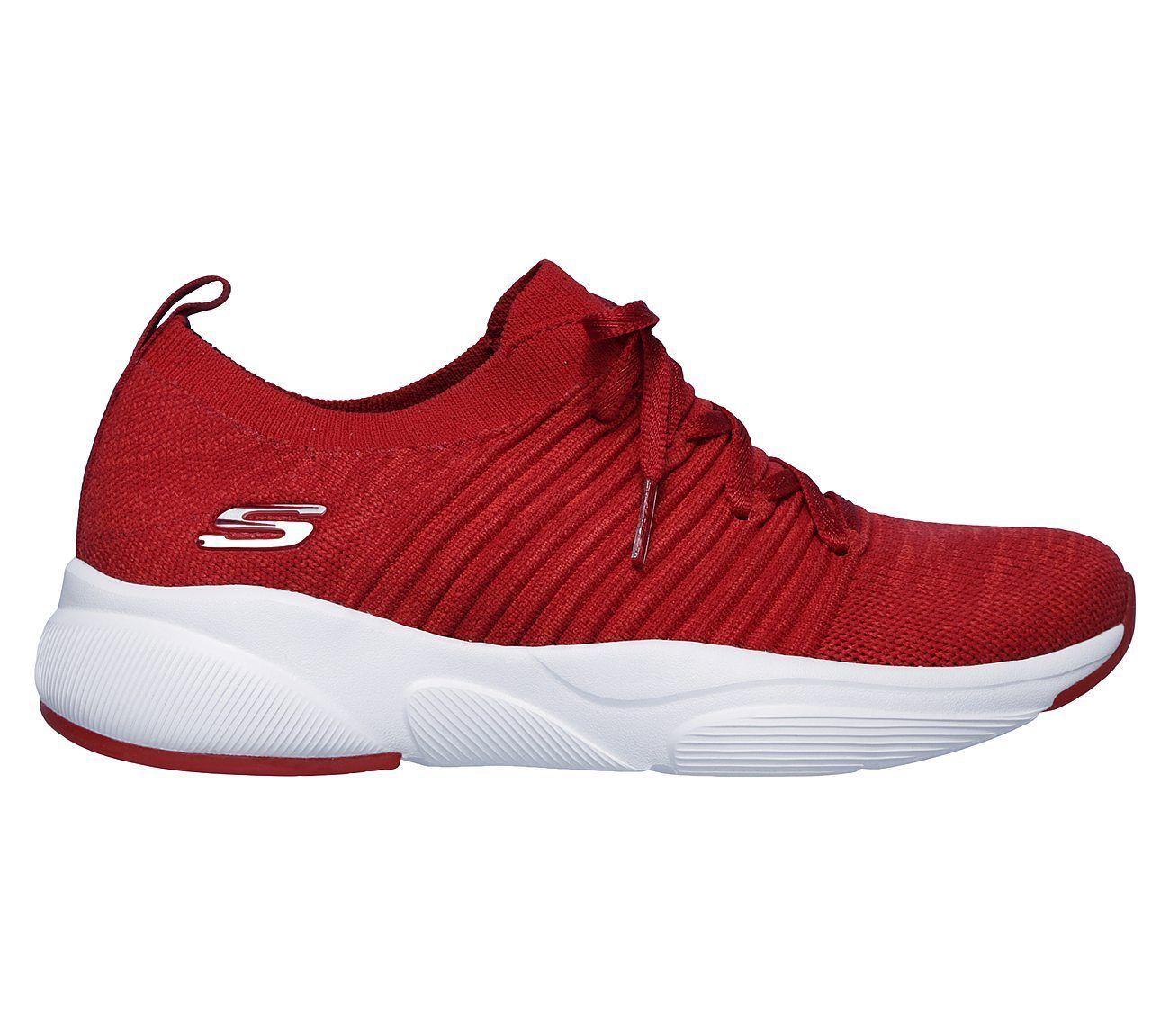 Skechers Red shoes Memory Foam Women Slip On Comfort Casual Athletic train 13024