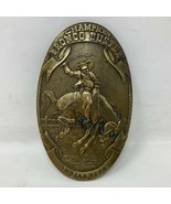 VTG Tiffany Champion Bronco Buster Brass Belt Buckle Indian Tera Rodeo W... - $98.99