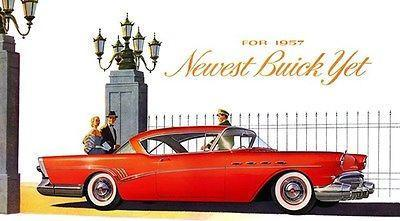 Primary image for 1957 Buick Roadmaster - Promotional Advertising Poster