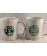 Lot of 2 Starbucks Green Logo Mermaid Mugs 2004 and No Date - $7.91