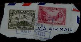 Vintage Used Set of 2 Stamps,  Nicaragua 50 Cincuenta Centavos, Will Rog... - $3.95