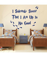 Wall Sticker Vinyl Home Decor I Solemnly Swear That I Am Up To No Good Q... - $14.49+