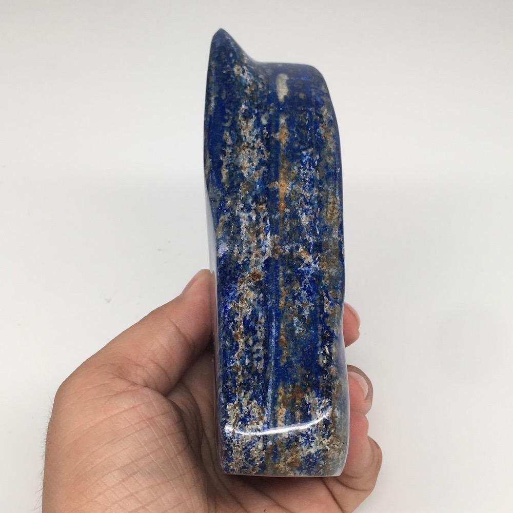 "5.3""x3.1""x1.5"", 700g,Natural Polished Freeform Lapis Lazuli @Afghanistan,PL108"