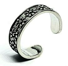 Daisy flower Mid-Ring / Toe Ring  Adjustable Rhodium Plated Brass Unisex... - $5.39