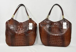 NWT Brahmin Thelma Tote / Shoulder Bag/Tote in Pecan Melbourne Embossed Leather image 12