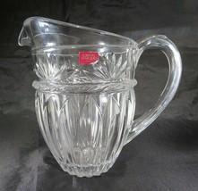 Heavy luxus Cristal D'Arques Paris France crystal pitcher Art Deco Mid Century - $50.00