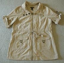 Pre-Owned Will Smith Women's Short Sleeve Sport Jacket Khaki Size L - $16.82