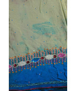 Multicolor Indian drapes notion fabric for decor vintage clothing dresse... - $18.23