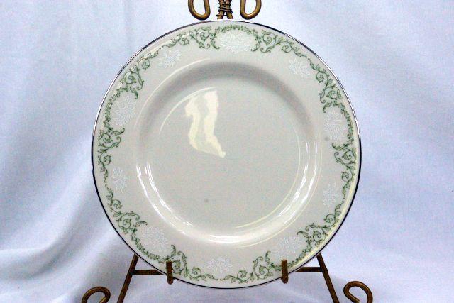 VINTAGE Set of FOUR PICKARD Brocade White DINNER PLATES