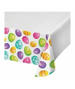 Easter Eggs Tablecover Tablecloth Plastic 54 x 102 Border Print - $7.12