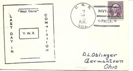 NOA (APD-24) 15 Oct 1934 Last Day in Commission Decatur Chap USCS Cachet - $3.47