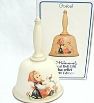 Goebel Hummel 1981 Bell  In Tune Girl & Bird Singing HUM703 4th Edition ... - $16.82