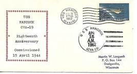 HANCOCK (CVA-19) 12 Jul 1961 18th Ann. L-t 2t(nu)(H-8d) & 7t(nu) Longset... - $3.47
