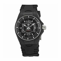 Technomarine Cruise Jellyfish Women's Black Silicone Swiss 34mm Watch TM... - $119.99