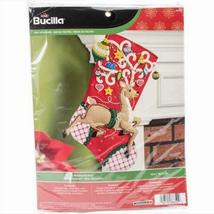 Bucilla Felt Stocking Kit, Ornamental Deer, 18in embroidery, XMAS, Christmas - $26.99