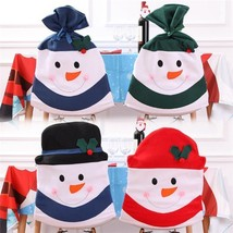 Snowman Chair Cover Christmas Dinner Table Party Back Covers Xmas Decora... - $9.89