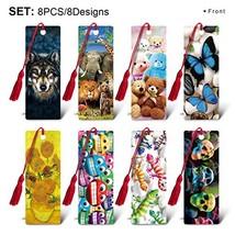 CEIEC3D 3D Lenticular Tassel Bookmarks with 5.5 inch Ruler for Kids Stud... - $11.79