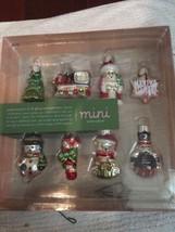 Martha Stewart Collection 8 Molded Glass Mini Winter Jubilee Christmas O... - $18.76