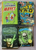 Graphic Novel Lot of 4 - Planet Tad Origami Yoga Dragonbreath Middle Rea... - $12.59