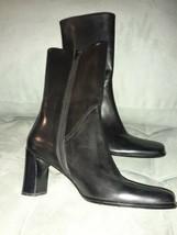 Via Spiga Black Leather Black T Gorgeous Boots  Sz 7 M - $41.58