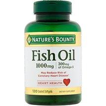 Nature's Bounty 300 mg Omega-3 Fish Oil 1000 mg Softgels 120 Coated Soft Gels (  - $26.99