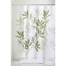InterDesign Leaves Fabric Extra-Long Shower Curtain for Master, Guest, K... - $19.81