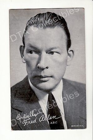 Primary image for FRED ALLEN -ARCADE CARD  FN