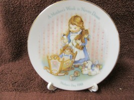 """Avon-Fine Collectibles Plate -Mother's Day 1988 """"A Mother's Work Is Never Done"""" - $11.88"""