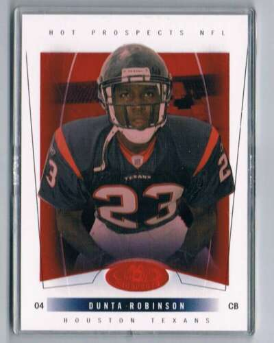 2004 Hot Prospects Red Hot #111 Dunta Robinson NM-MT /50