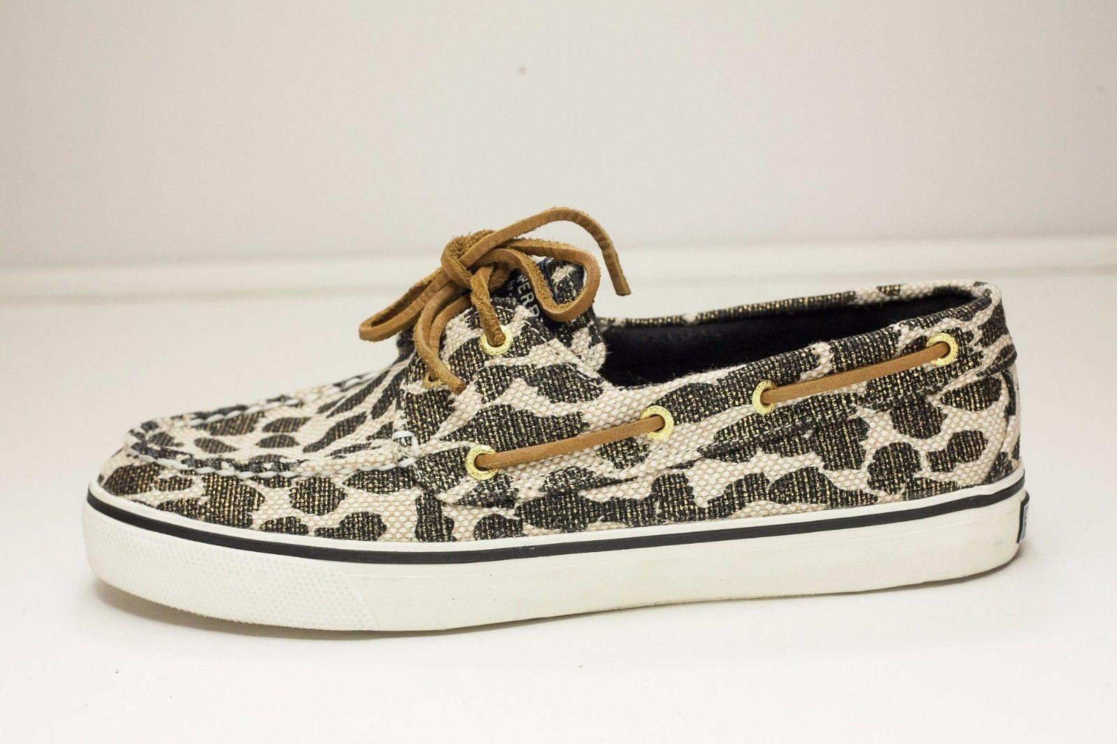Sperry Top-Sider 7.5 Leopard Women's Boat Shoes