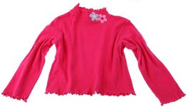 FLAPDOODLES Pink Long Sleeve Top Flowers Turtle neck turtleneck cotton 2... - $3.95