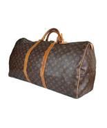 Auth LOUIS VUITTON KEEPALL 60 Monogram Canvas Leather Travel Bag, Boston... - $469.00