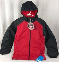 Columbia thermal coil radiate your heat youth enfant jacket red black size M - $46.35