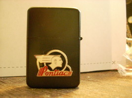 Polished Chrome Pontiac India Head Emblem Car Black Lighter  - $14.84