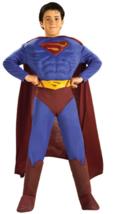 DC Comics Deluxe Muscle Chest Superman Child's Costume, Medium 8-10 NIP - $29.09