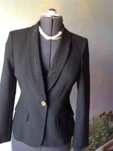Anne Klein Long Sleeve Black Blazer Suit Jacket SZ 4 - $34.64