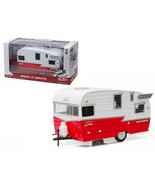Shasta Airflyte 15 Camper Trailer Red for 1/24 Scale Model Cars and Truc... - $65.48