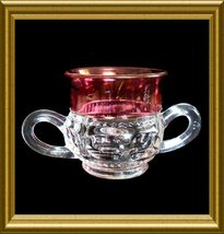 Tiffin Sugar Bowl in the Ruby Flashed King's Crown pattern Vintage circa... - $8.00