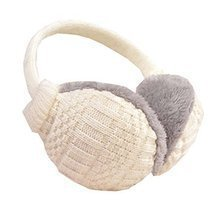 Unisex Knit EarMuffs Ear Warmers Winter Accessory Outdoor Earmuffs, White - €11,46 EUR