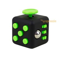 Black Green Fidget Cube Toy Anxiety Stress Relief Focus Attention Work P... - $5.99