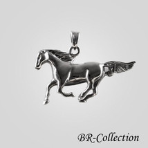 Beautiful 925 Sterling Silver Horse Pendant - $28.66