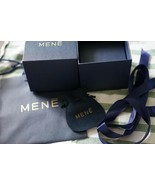 Mene empty premium jewelry box with suede pouch dark blue and bag 4* 4.2... - $10.00