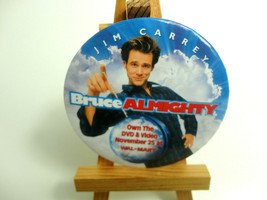 Bruce Almighty Movie Pin Button Advertising Jim Carrey 2003 Promo Release - $4.90
